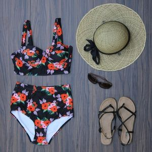 Other - High Waisted Vintage Style Swimsuit